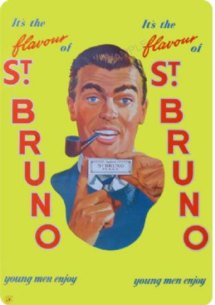 St Bruno Pipe Tobacco Advert Print